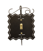 Needle and Thread Single Switch Cover charcoal Ackfeld Mfg.  - $12.50