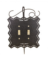 Needle and Thread Double Switch Cover charcoal Ackfeld Mfg.  - $14.50