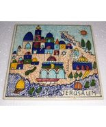 NWOB JERUSALEM CERAMIC TILE HAND PAINTED FROM ISRAEL - $27.14