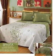 Hot Seller 'Sparta' Double Sided Bedspread, Shams, Curtains and Coordina... - $335.21