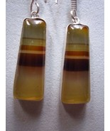 1 pair multi chalcedony  earring ready to wear 53 cts  - $8.54