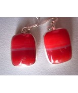 1 pair multi chalcedony  earring ready to wear 45cts    - $8.54