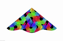 """42"""" DELUX DELTA NYLON FLYING IN THE WIND KITE W/ LINE, WINDER, & SKYTAIL... - $19.45"""
