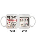Grumpy Cat Meowy Christmas Happy Meow Year Coffee Mug - Funny X-Mas Mug ... - $14.99