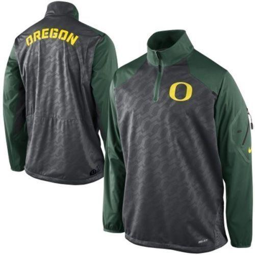 "Nike Mens Oregon Ducks Fly Rush Zip Pullover AN *Free Shipping in USA* ""XXLarge"""