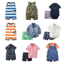 NWT Carter's Infant Boy 1 & 2-Pc Outfits Sets Sizes 0-24 Mo Summer Short... - $10.69+