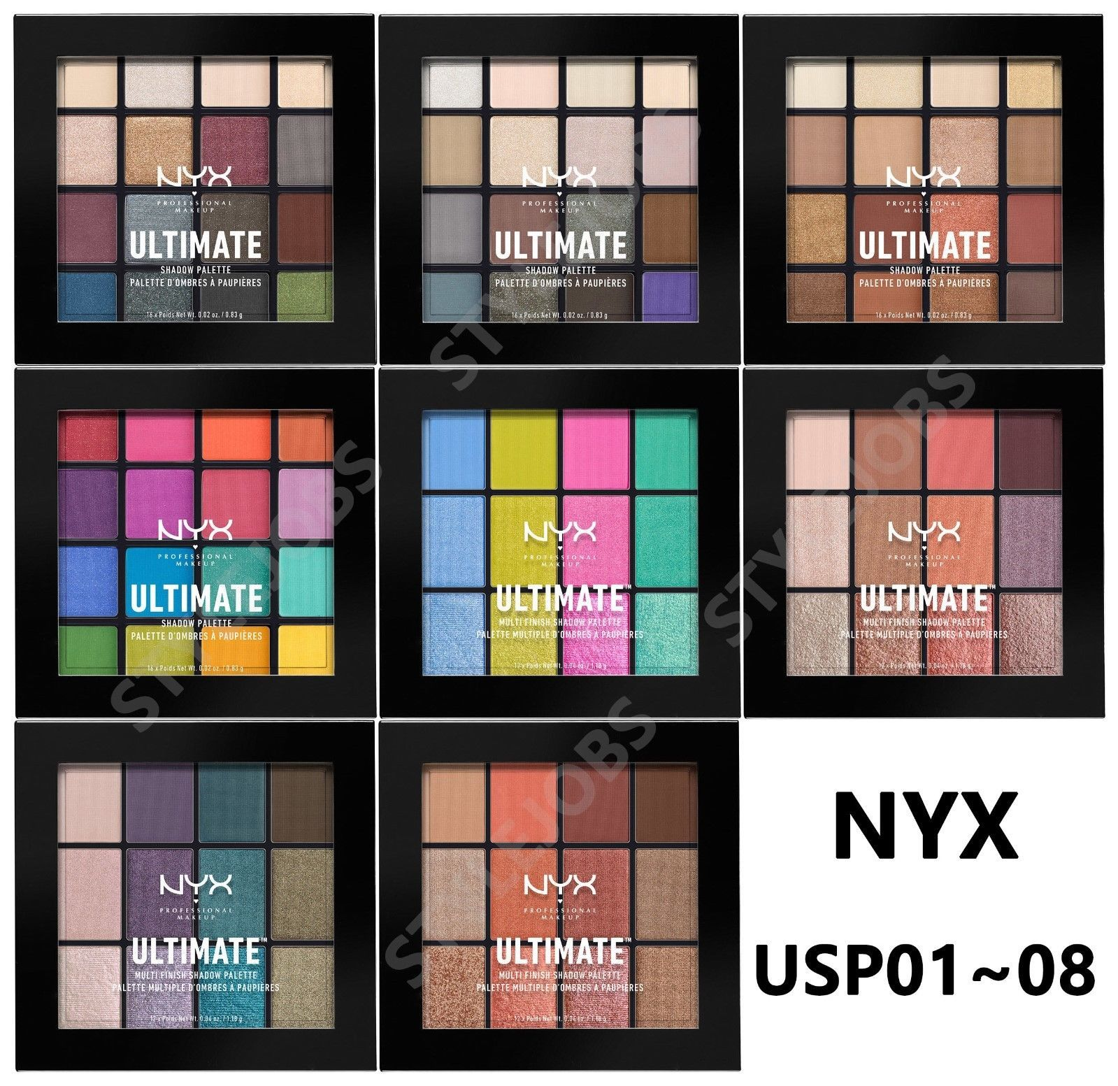 Primary image for NYX ULTIMATE (MULTI-FINISH) SHADOW PALETTE USP01~08