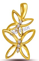 Flower Style! Gift For Her!!  0.18 Ctw Natural Diamond 14K Yellow Gold P... - $339.00