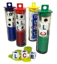 (3) LCR Dice Game Left Center Right Fast-Paced Family Games 3+ Players - $15.47