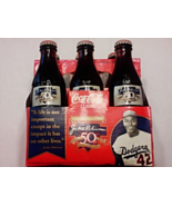 Dodgers Jackie Robinson 50th Anniversary Coca Cola Coke 6 Pack Bottles S... - $30.00