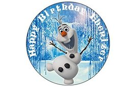 OLAF FROZEN CUPCAKE ROUND EDIBLE IMAGE 12ct. Cupcake TOPPER DECORATION s... - $8.54