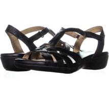 naturalizer Nella Ankle Strap Sandals 390, Black, 6.5 US / 36.5 EU - $29.75