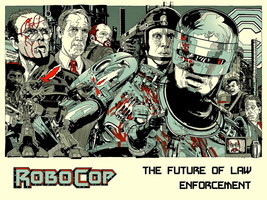 Robocop 1987 Movie Characters Awesome Art 24x18... - $9.95