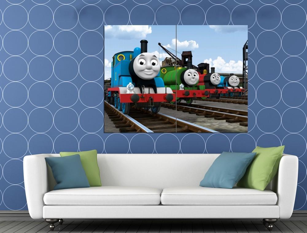 Thomas the Tank Engine & Friends Cool Cartoon Art Kids HUGE 48x36 Print POSTER for sale  USA