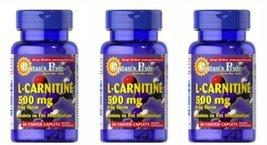 Puritan's Pride L-Carnitine 500mg 60 Coated Caplets 3 Bottles - $60.39