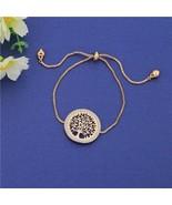 Gold Tree of Life Charm Bracelet For Women Wrist Bracelet Trendy Adjusta... - $12.52