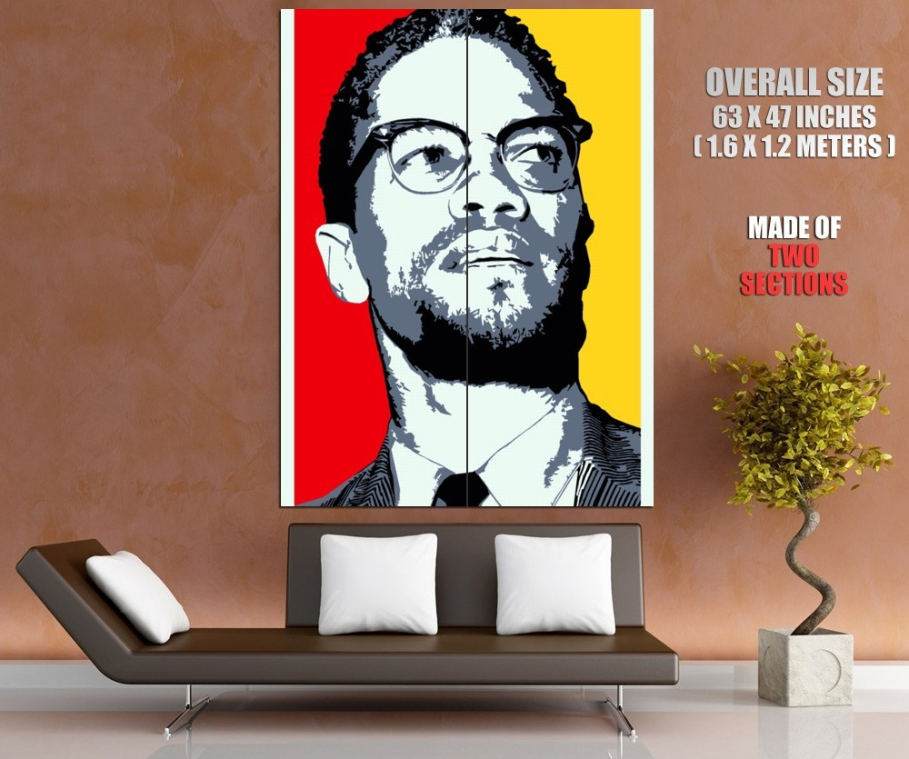 Malcolm X Human Rights Activist Portrait Art Giant Huge