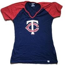 Minnesota Twins Majestic Women's Medium Blue MLB Baseball T-Shirt - $14.95