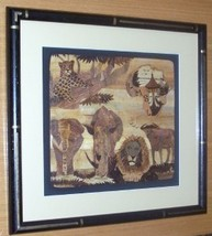ORIGINAL AFRICAN TREE BARK WOOD CHIPS WILDERNESS ART - $88.65