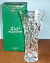 "Lenox Irish Spring Mackenna Bud Vase 8"" Made/Ireland Hand Cut Crystal 85... - $59.90"