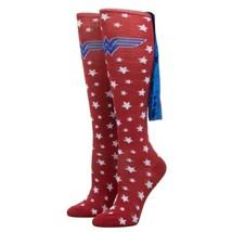 Wonder Woman Stars Dc Comics Velvet Cape Knee High Socks - $12.99