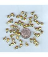 50 Mini Gold Belly Dance Bells #FG09-05, Free Ship - $5.25