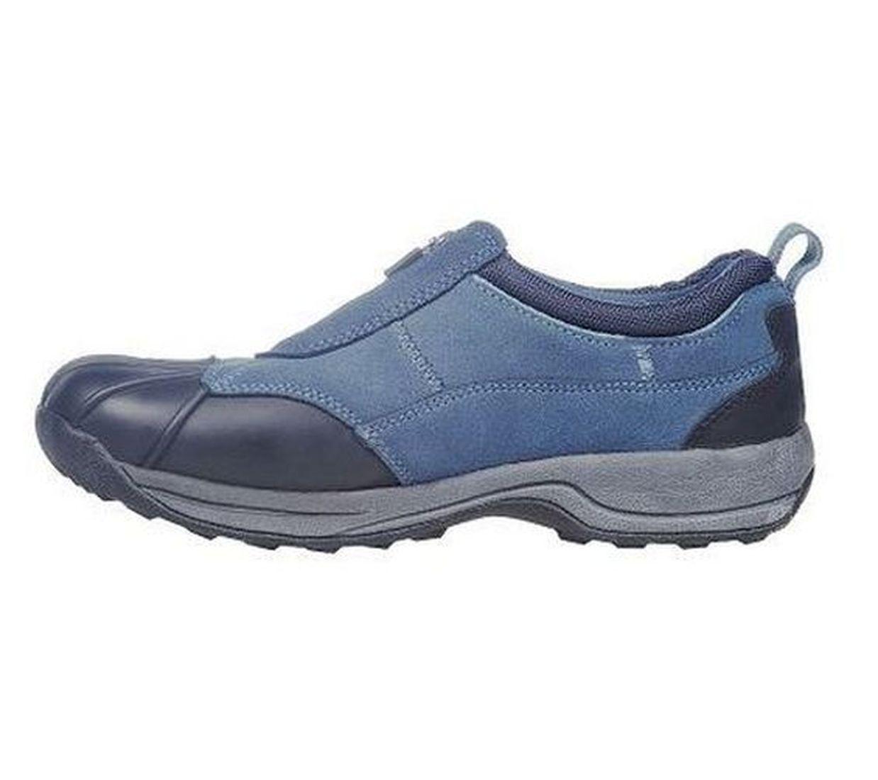 Ryka Water Resistant Suede Shoes Front Zip Nitracel Sock