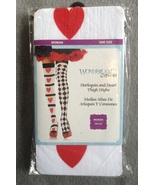 Halloween Costume Harlequin and Hearts Thigh High Stockings One Size - $4.97