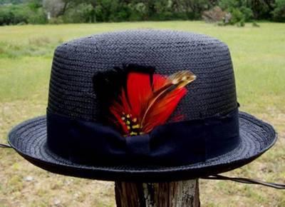 a2a5209f NEW Black Men's GODFATHER Straw HOMBURG Fedora Gangster Kid Rock n Roll Hat