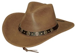 NEW MADE in the USA Henschel Hats Cowhide Leather HIKER Western Cowboy H... - $75.95