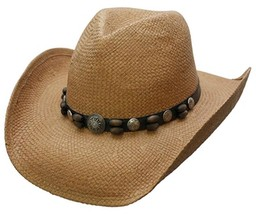 NEW Conner Hats Shapeable Brim Toyo Straw Western Cowboy Hat UPF 50+ Tan... - €31,82 EUR