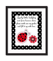 Lovely Little Ladybug 8x10 Childrens Baby Nursery Art Print by Little Sp... - $14.99