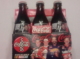1998 JEFF BURTON #99 COCA COLA RACING 5 PACK COKE BOTTLES UNOPENED!  - $19.99