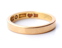 1952 Wedding Ring solid 18K Yellow Gold  Ø US 6 /3.5gr - $275.57