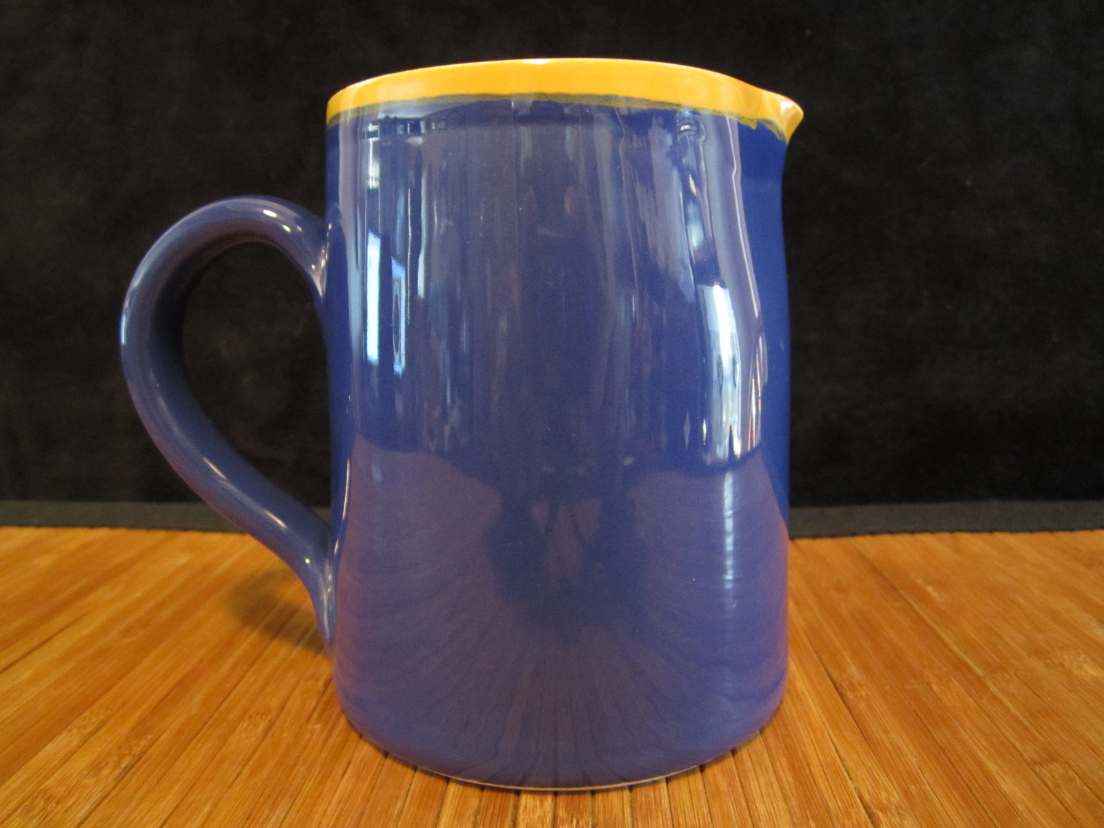 Primary image for Starbucks Italya Bellini Coffee Tea Pitcher hand painted  in Italy Blue & Yellow