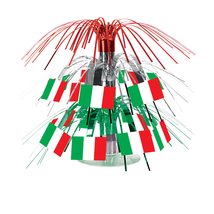 "Beistle Italian Flag Mini Cascade Centerpiece 7 1/2""- Pack of 12 - $42.05"