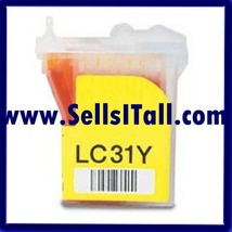 Brand NEW Compatible LC-31Y Yellow Cartridge for use in Brother FAX1820C - $6.95