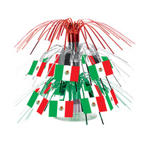 "Beistle Mexican Flag Mini Cascade Centerpiece 7 1/2""- Pack of 12 - $42.05"