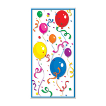 "Beistle Balloons & Confetti Door Cover 30"" x 5'- Pack of 12 - £41.02 GBP"