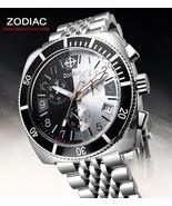 ZODIAC ZO2111 Men's Round Chrono DIVER Watch Steel Bracelet BLACK & WHIT... - $1,325.77