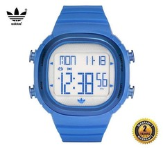 ADIDAS ADH2108 Men Women Square Digital Watch Light Blue Silicone Silver... - £88.06 GBP