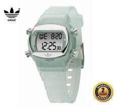 ADIDAS ADH1694 Boy Women OVAL DIGITAL Watch Green Silicone Silver Dial A... - €87,52 EUR