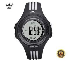 ADIDAS ADP3054 Men Women Round Sport Digital Watch Black Silicone White ... - €100,72 EUR