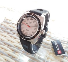 ZODIAC ZO2203 Women Round Steel DIVER SWISS Watch Black Silicone White DIal - $371.25
