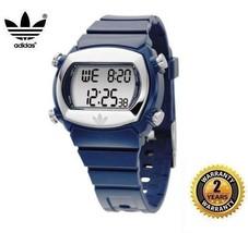 ADIDAS ADH1675 Men Women OVAL DIGITAL Watch Navy Blue Silicone Silver Di... - €87,52 EUR