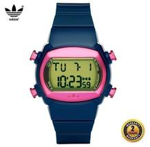 ADIDAS ADH6067 OVAL DIGITAL Watch Pink Dark Blue Navy Silicone Strap Gre... - €72,30 EUR