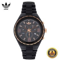 ADIDAS ADH2570 Men Women Round Chronograph ROSE GOLD Watch Gray Resin Gr... - £99.14 GBP