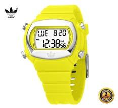 ADIDAS ADH6043 Boy Women OVAL DIGITAL Watch Yellow Silicone Strap Silver... - €87,52 EUR