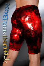 ThunderBox Nylon Spandex Red Reptile Jammer Shorts Casual, Party, Dance S,M,L,X - $25.00