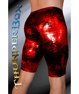 ThunderBox Nylon Spandex Red Reptile Jammer Shorts Casual, Party, Dance ... - $30.00